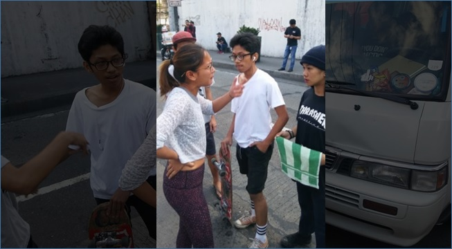 Teen 'skateboards' on 2nd lane of EDSA, causes traffic collision