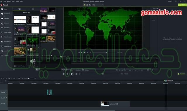 تحميل برنامج تصوير الشاشة وعمل الشروحات | TechSmith Camtasia Studio v2020.0.10 Build 17662 (x64)