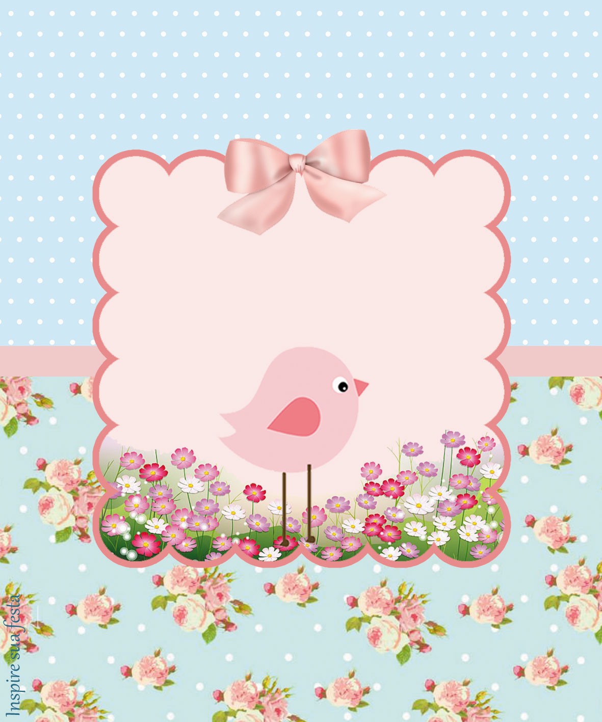 Pink bird in shabby chic free printable kit oh my - Cuadros shabby chic ...