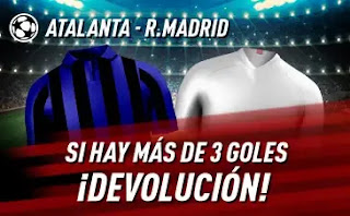 sportium promo Atalanta vs Real Madrid 24-2-2021