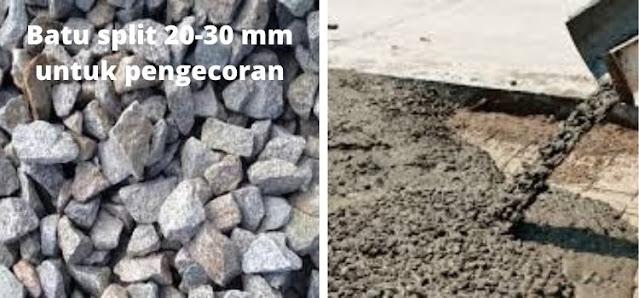batu split 20-30 mm untuk pengecoran