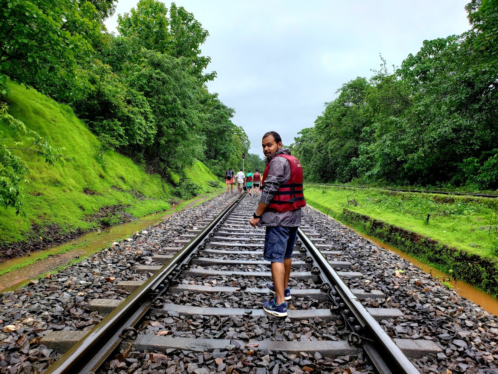 Track from Colem Station to Dudhsagar falls