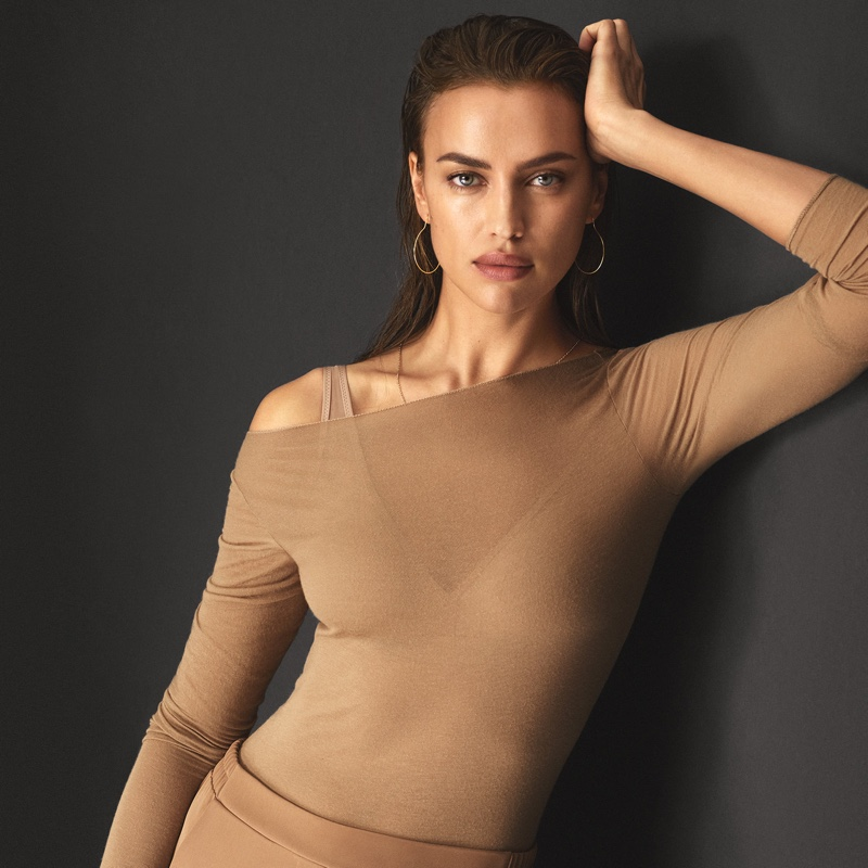 Irina Shayk wears lightweight cashmere for Intimissimi New Fibers campaign