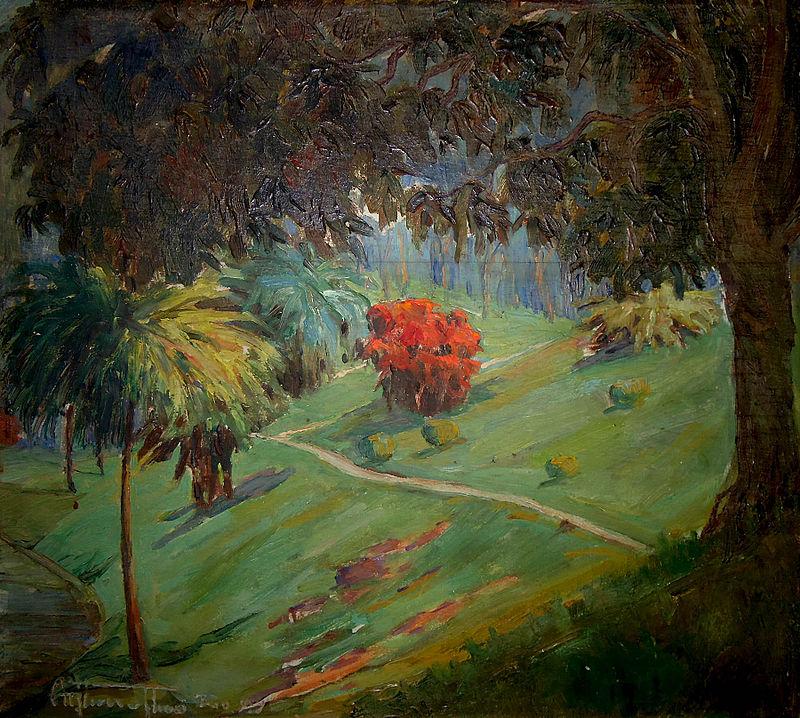 Artur Timóteo da Costa - Paisagem com Arbusto Vermelho