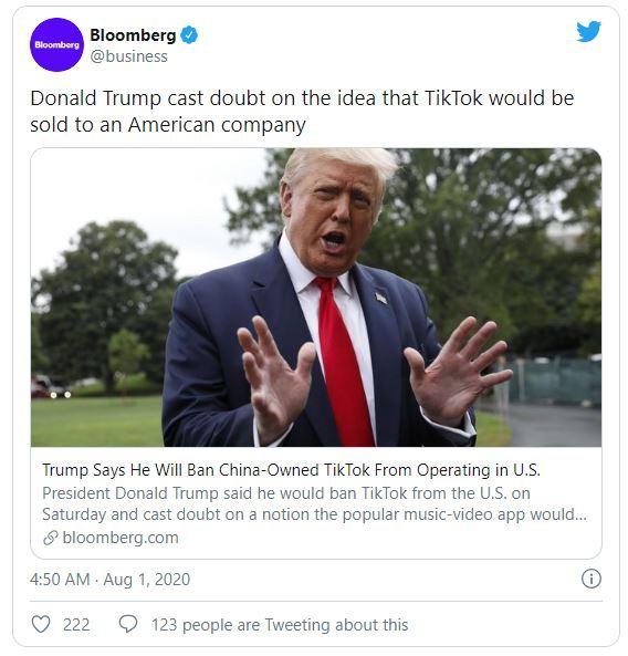 Trump will ban Tik Tok