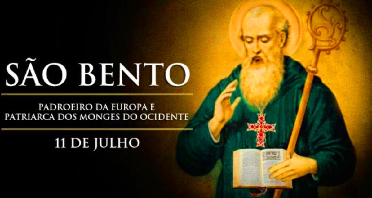 Dia de São Bento é 11 de Julho