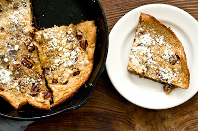 Chocolate chip pecan oatmeal Dutch baby pancake | Homesick Texan