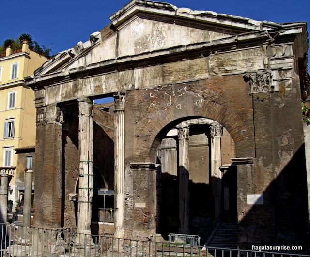 Pórtico de Otávia, no Ghetto de Roma