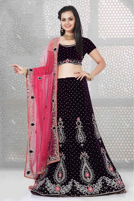 Latest Black Color Lehenga Choli Designs for Weddings