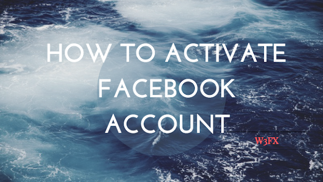 How to activate Facebook account