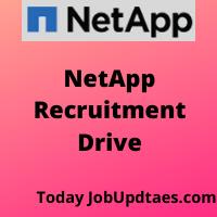 NetApp Recruitment Drive