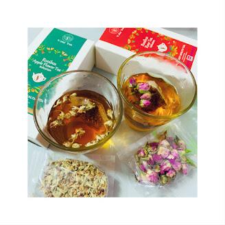 賞茶 ~ 玫瑰花+南非博士茶&蘋果花+南非博士茶