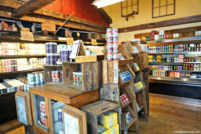Cervezas Locales en la Carnicería Tuckaway en New Hampshire