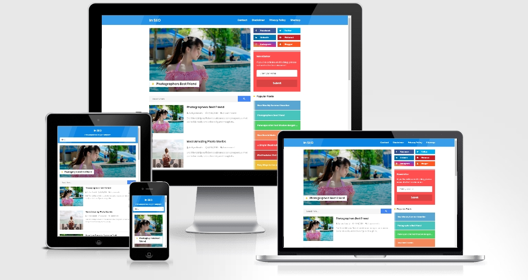 In SEO Responsive Blogger Template