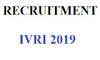 RECRUITMENT IVRI 2019,ivri jobs