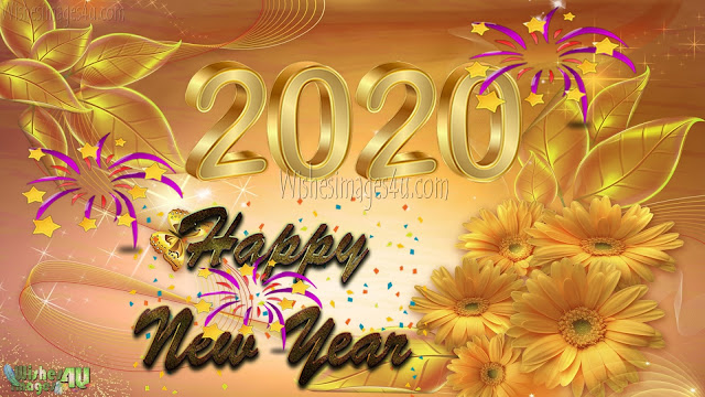 Happy New Year 2020 Golden Desktop Background