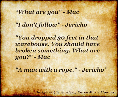 Jericho Barrons and MacKayla quote from Darkfever by Karen Marie Moning