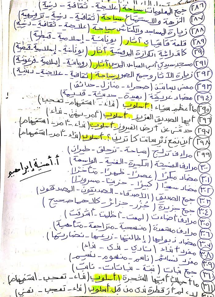 336 سؤال اختيار من متعدد للصف الرابع الابتدائي يشمل كل أجزاء المنهج قراءة ونصوص ونحو ومواطن جمالية 14