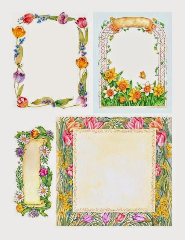 etiquetas o marcos con flores para imprimir gratis oh my fiesta