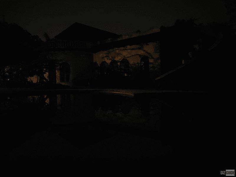 Close to pitch-black scene