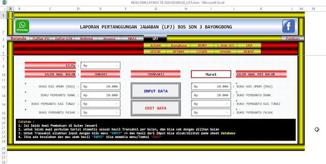 Aplikasi RKAS dan LPJ BOS Versi 2020