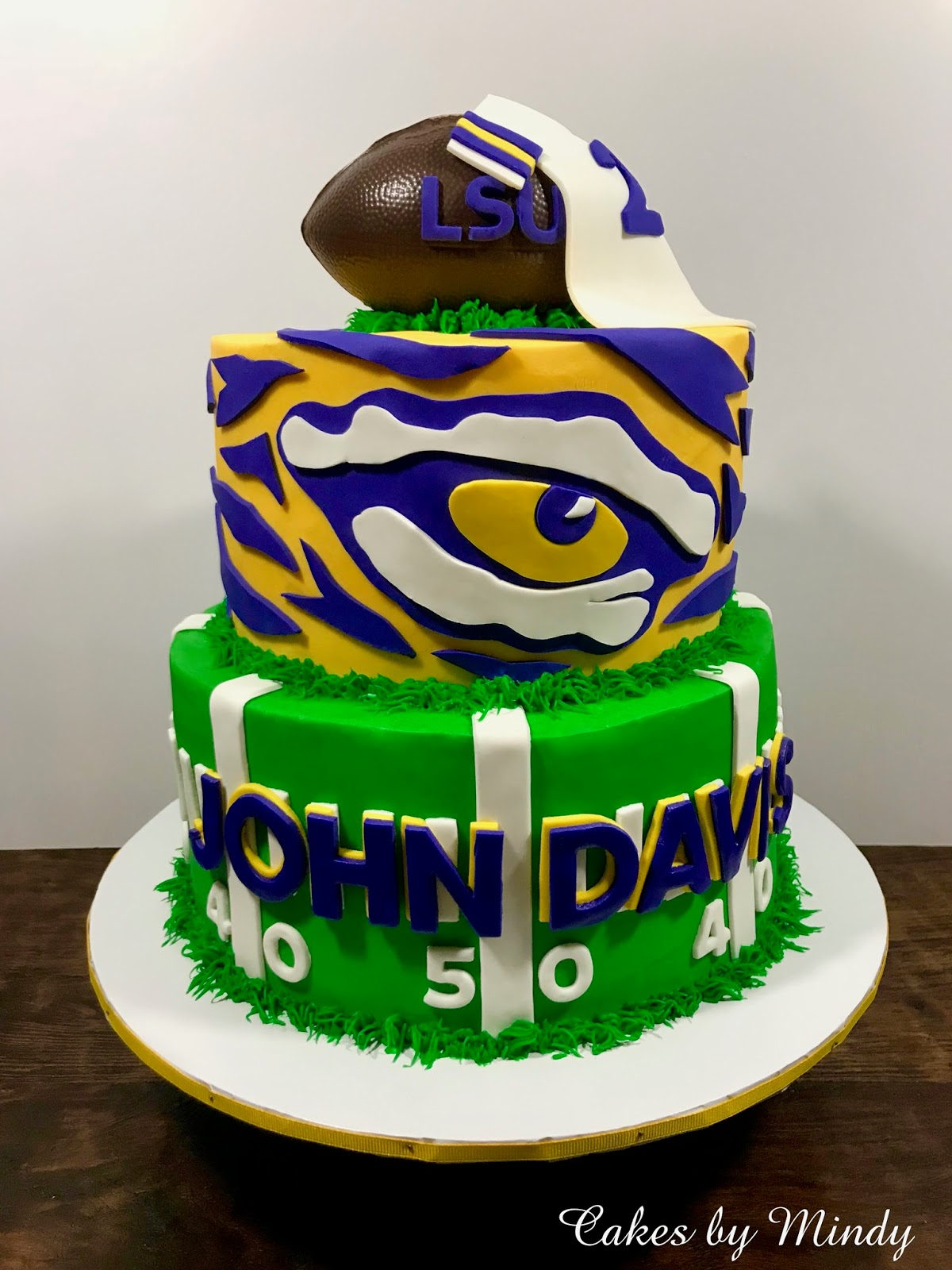 Super Cakes By Mindy Lsu Tigers Birthday Cake 8 10 Personalised Birthday Cards Veneteletsinfo