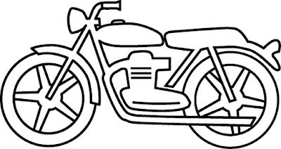 Gambar mewarnai sepeda motor - 4