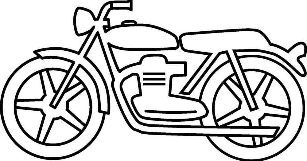 Mewarnai Gambar Motor V Warna