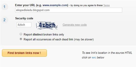 Cara Mengecek Link Artikel Yang Sudah Tidak Aktif (Broken Link) Atau Telah Mati