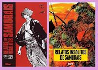 portadas del cómic manga histórico Relatos insólitos de samurais, de hiroshi Hirata