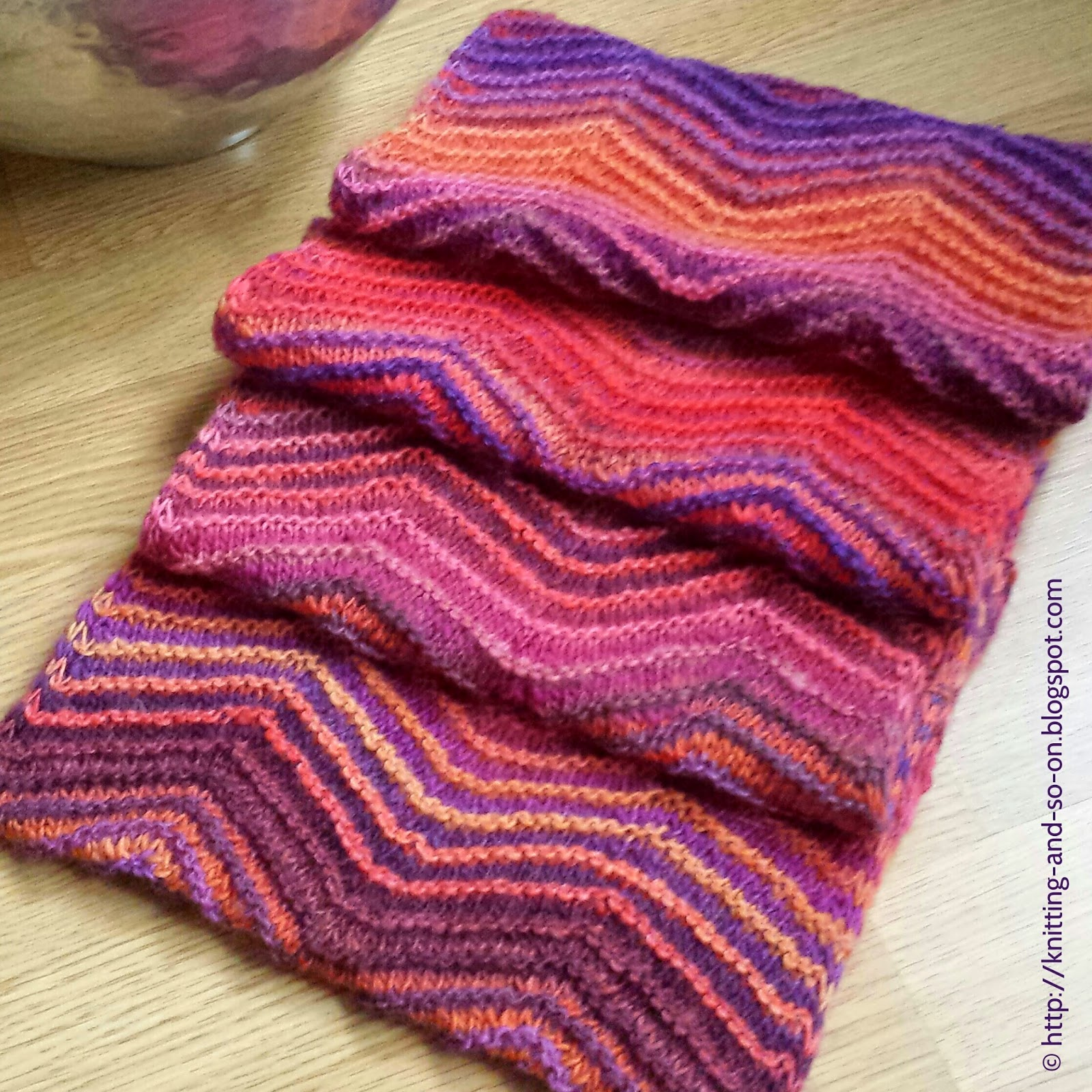 Knitting and so on: A Cowl to Match the Hexagon Mitts ...