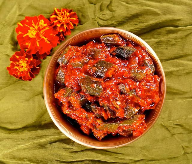 indian recipe east okra tomato curry