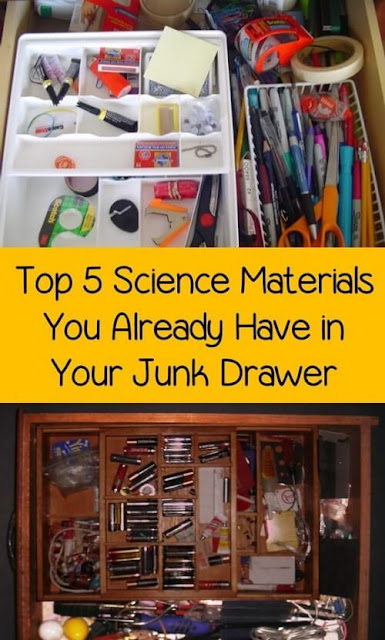 Use the paper clips, coins, batteries, rubber bands, and old candy in your junk drawer for some awesome STEM experiments and science experiments!