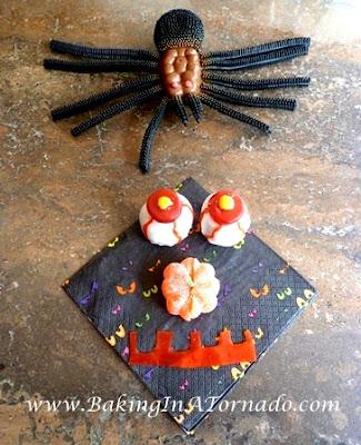 Bloody Eyeballs for Halloween | www.BakingInATornado.com |  #recipe #Halloween