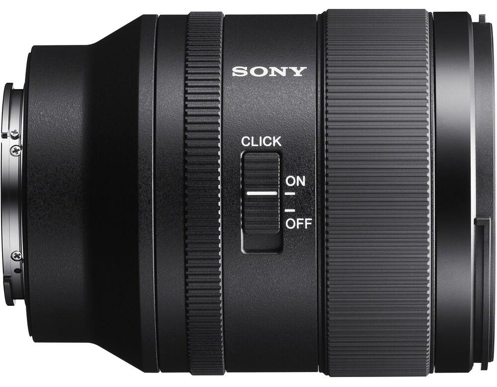 Переключатель работы режима кольца выбора диафрагмы в объективе Sony FE 35mm f/1.4 GM