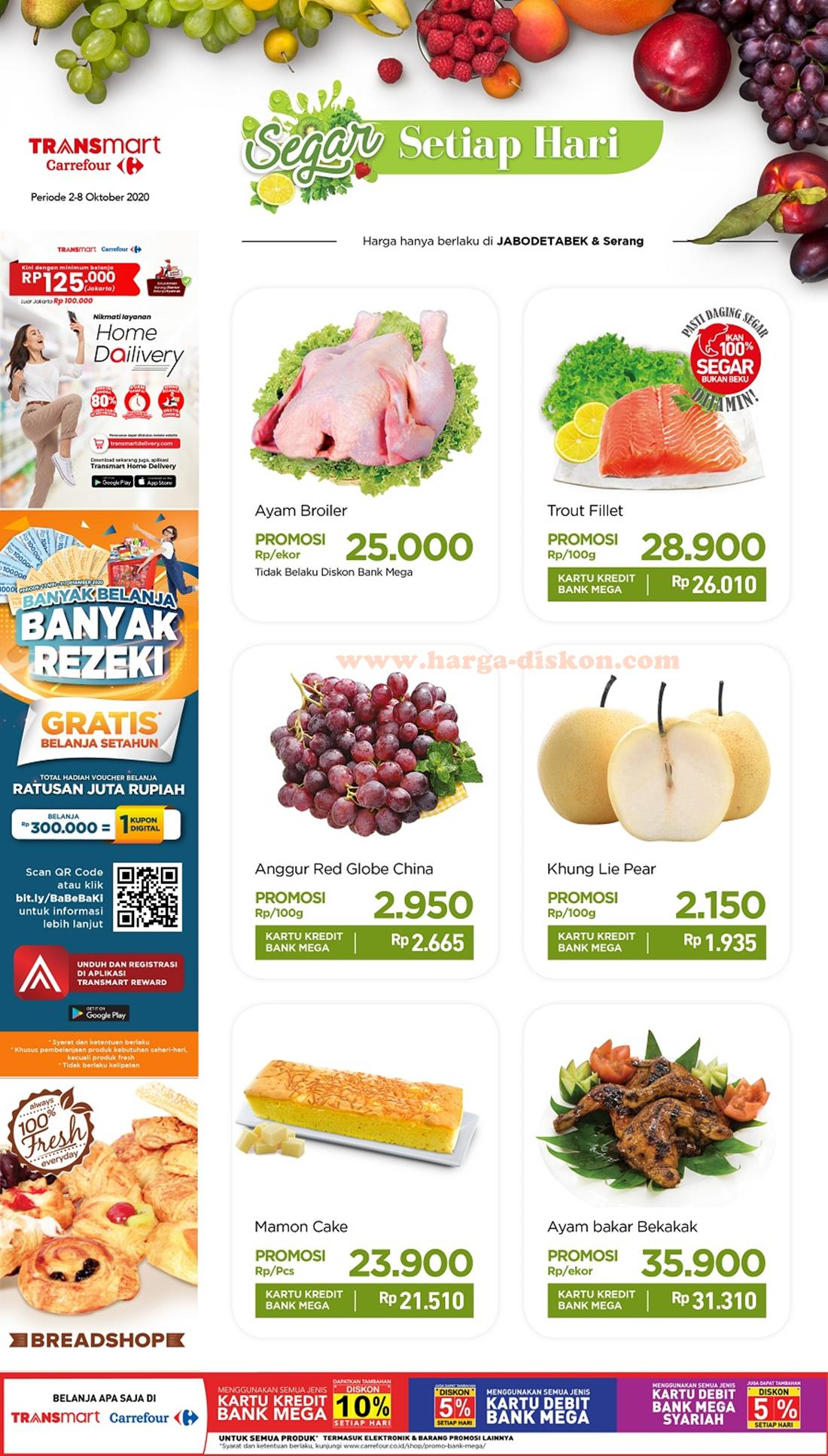 Promo Transmart Carrefour Produk Fresh 2 8 Oktober 2020 Harga Diskon