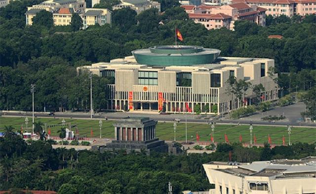 Vietnam national assembly building.