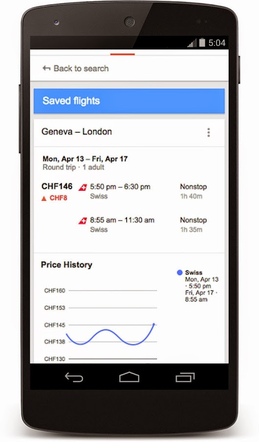 Google Flight Search lands in Switzerland to help you find the best destinations and deals