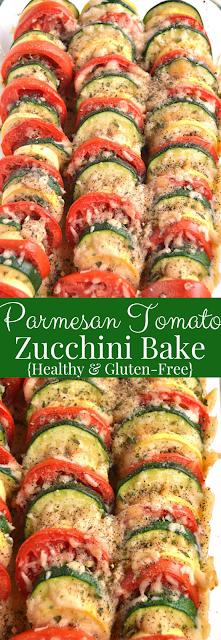 Parmesan Tomato Zucchini Bake recipe