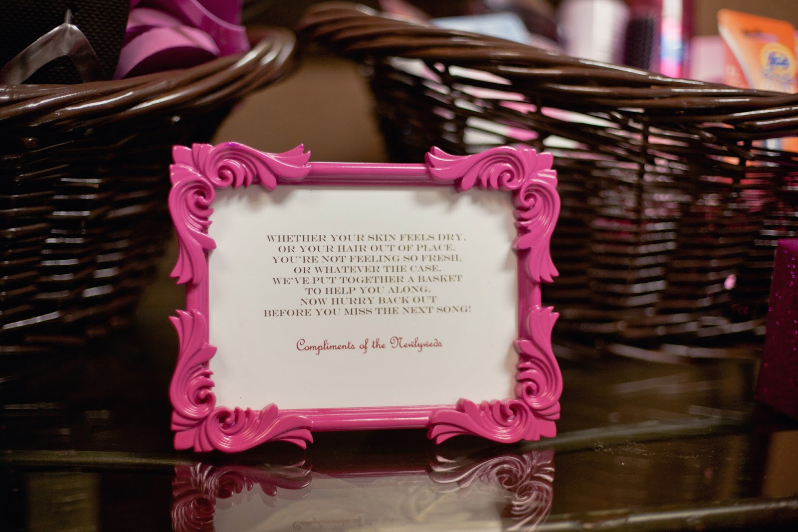 The Busy Broad Color Themed Wedding Bathroom Baskets
