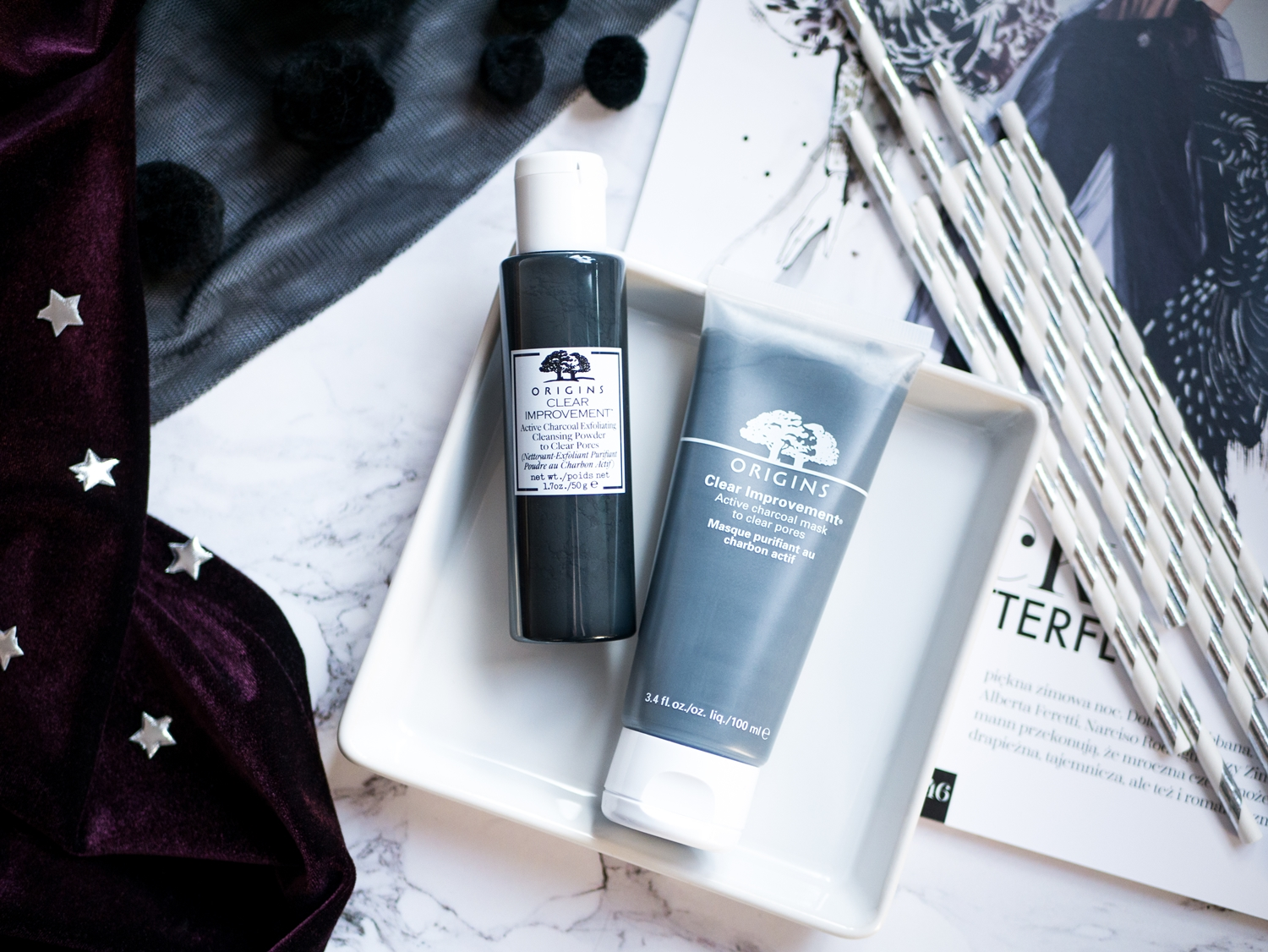 Origins Clear Improvement Active Charcoal Exfoliating Cleansing & Mask