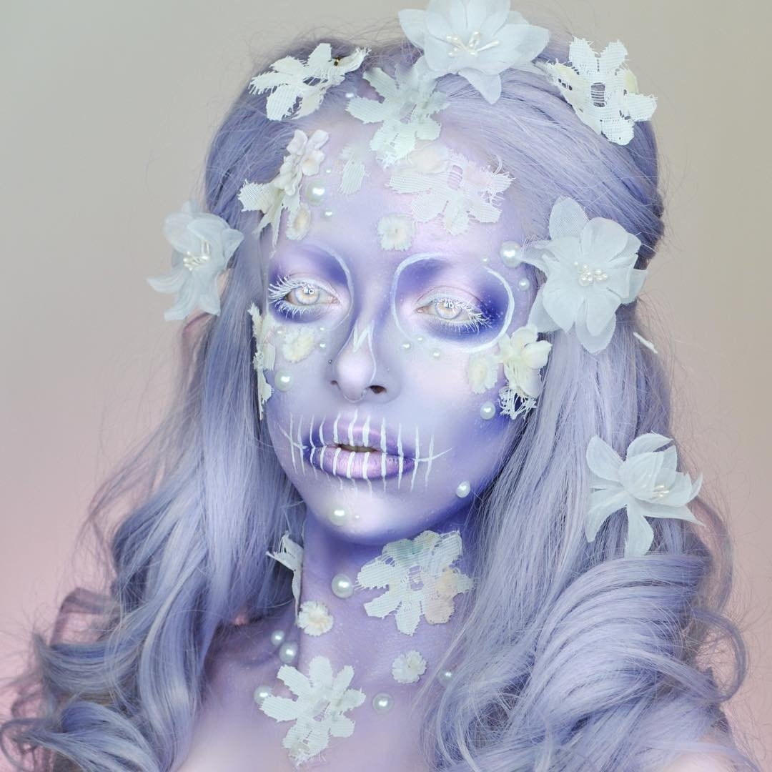 06-The-Skull-Kimberley-Margarita-Makeup-Effects-that-Transform-the-Artist-www-designstack-co