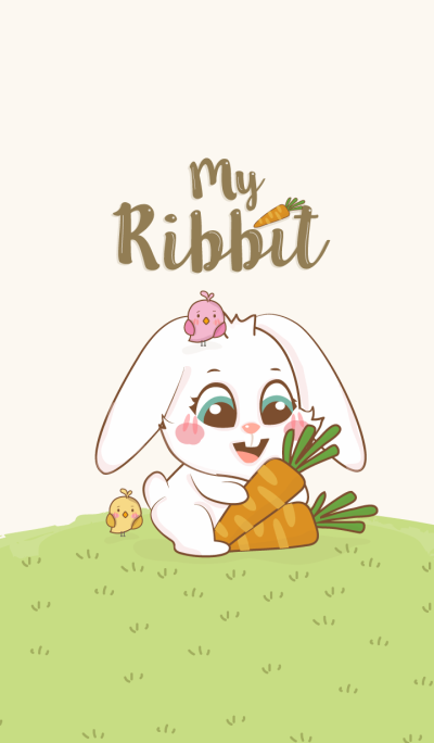 My Rabbit with carrot.