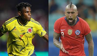 مشاهدة مباراة كولومبيا وتشيلي بث مباشر اليوم