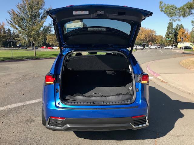 Rear door open on 2020 Lexus NX 300h