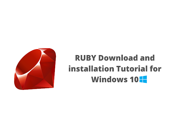 Ruby download and installation tutorial for Windows 10