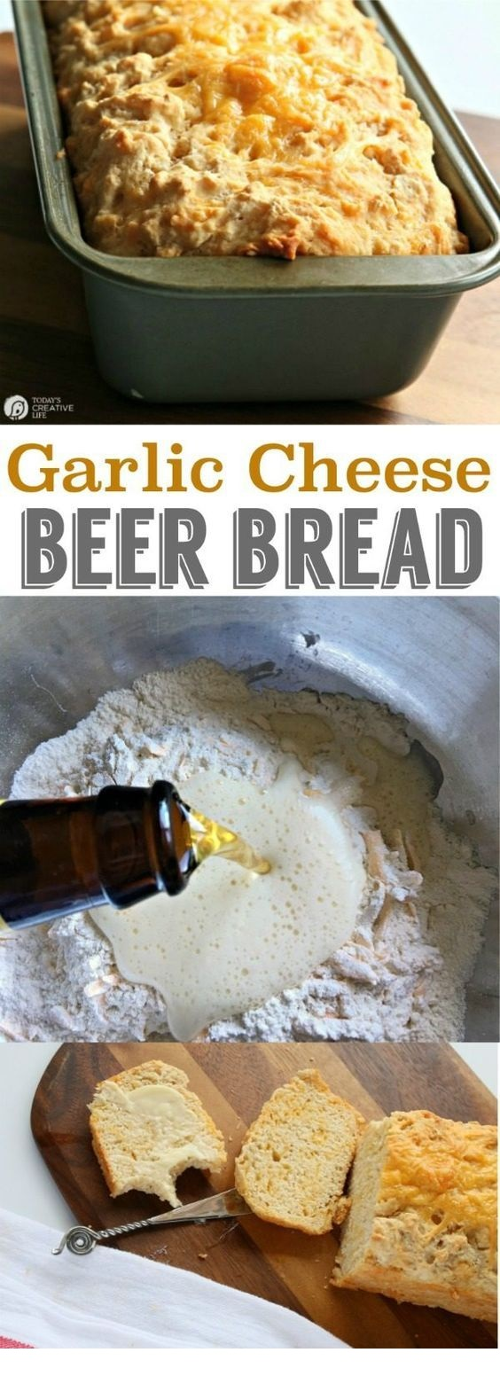 Beer Bread with Garlic and Cheese