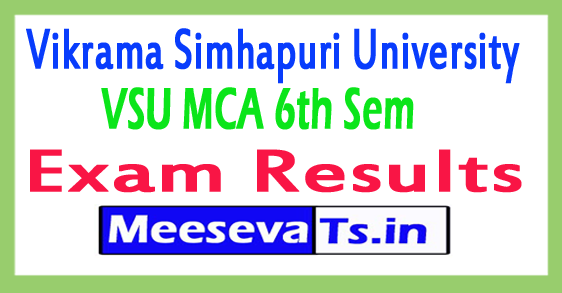 Vikrama Simhapuri University MCA 6th Sem Results 2017