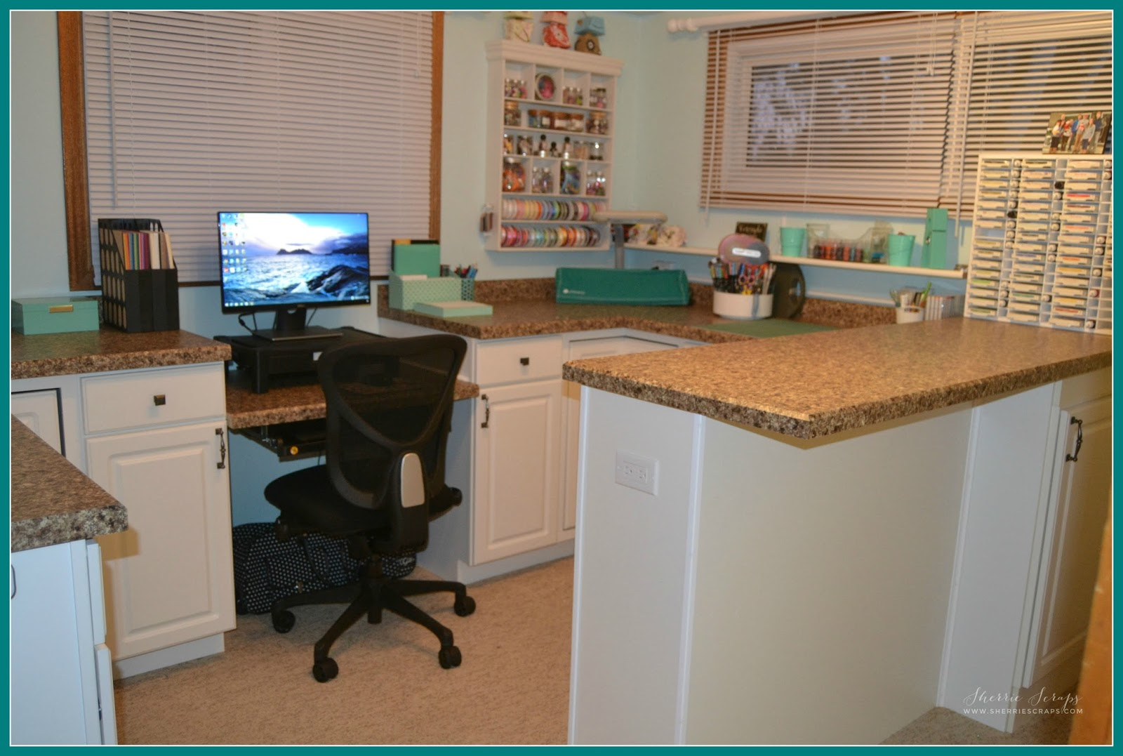 Craft Room Makeovers: Sherrie Scraps With Passion: Craft Room Makeover