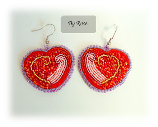 Beading embroidery heart 💖